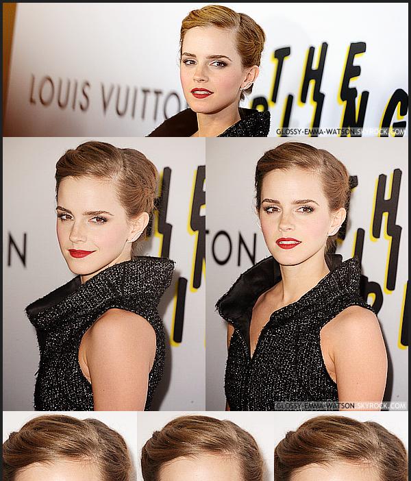 4.6.13 • Emma byla skutečně přítomen na premiéře filmu The Bling Ring v Los Angeles. Emma měla na sobě černé šaty pošité flitry a Chanel. Pro účes, ona se zaměřila na nadčasovost copánky.